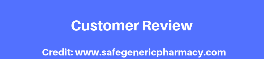 Customer Review Of Generic Sildenafil Pill