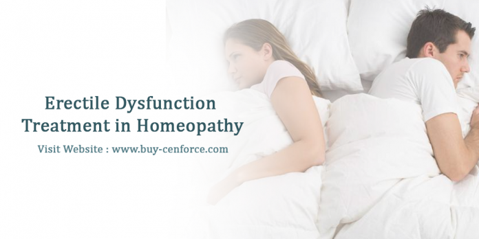 Erectile dysfunction treatment in homeopathy